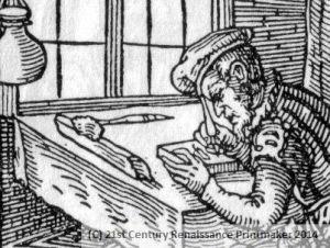 WM Detail - Der Formschneider from Das Ständebuch Jost Amman woodcut 1568